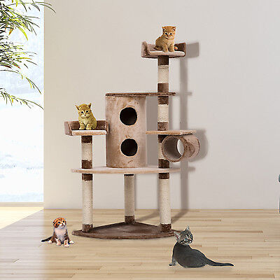 Cat Tree Scratching Post Kitten Climbing Tower Activity Center Bed Condo NEW