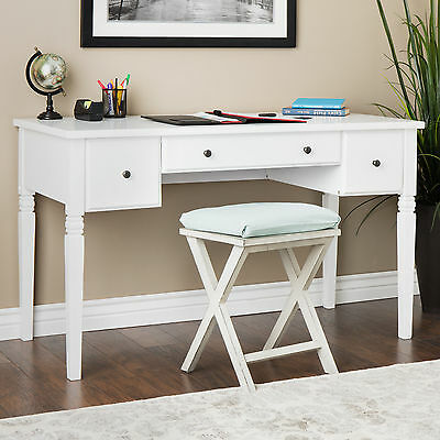 cami contemporary white wood finish 3 drawer home office