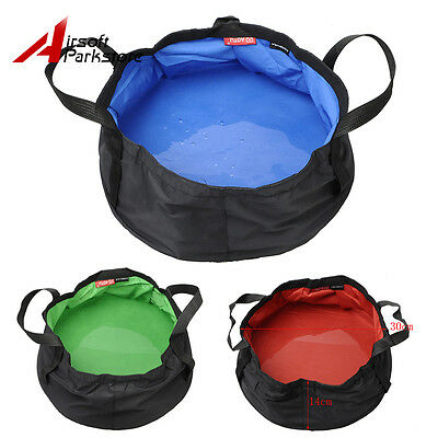 8.5L Folding Bucket Car Camping Fishing Wash Clean Portable Foldable Water Pot