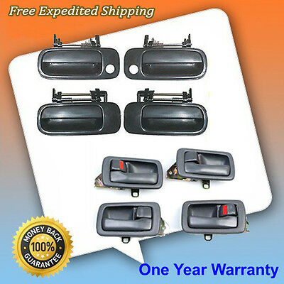 92-96 Toyota Camry Outside Non Painted + Inside Gray Door Handle Set 8PCS DS477