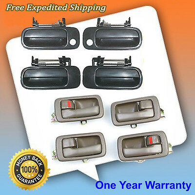 92-96 Camry Outside Non Painted  Inside Brown Door Handle Full Set 8PC Kit DS478