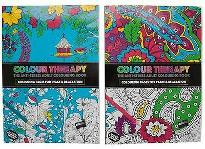Colour Therapy Art Drawing Fill in Colours Colouring Book