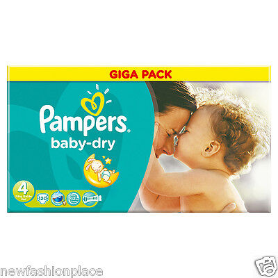 Pampers Baby Dry Giga Pack Size 4 7kg-18kg 120 Nappies