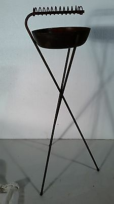 Vintage Mid Century Wrought Iron Smoke Or Plant Stand Home & Garden Table Rack