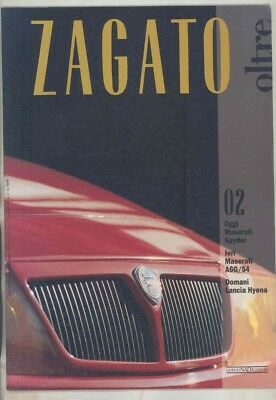 June 1992 Zagato Factory Magazine Brochure Maserati A6G 54 Hyena ww1076