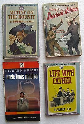 """(4) 1940's Paperback Books including """"Uncle Tom's Children"""" by Richard Wright"""