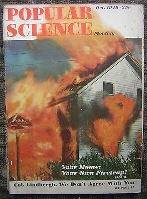10/1948 Popular Science Monthly - Your Home: Your Own Firetrap - Johnny Lujack