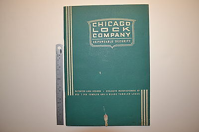 #J68 CHICAGO LOCK COMPANY Catalog Book 1950 56 pages Padlock Door