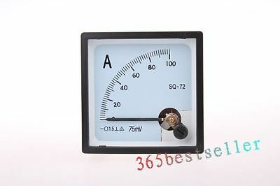 1pc XT-72 72x72x45mm Analog AMP Panel Meter  DC / AC 5A/10A/20A/50A/100A~2000A