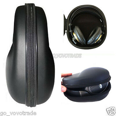 Portable Protection Carrying Hard Case Bag for Headphone Earphone Headset Black