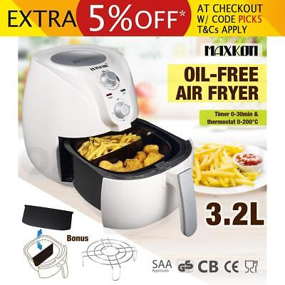 3.2L Deep Air Fryer Kitchen Healthy Rapid Cooker Low Fat Oil Free with Alarm WH