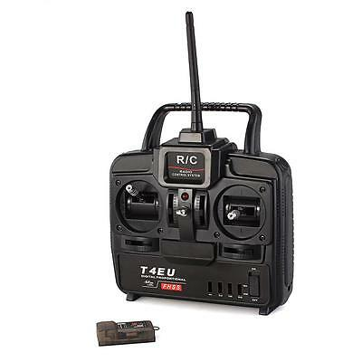 Radiolink 2.4GHz T4EU 4 Channel Transmitter Radio Receiver for RC Quadcopter New