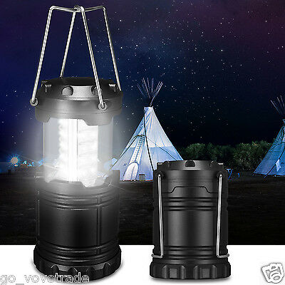 Rechargeable Solar Panel Camping Lantern LED Outdoor Tent Hanging Lights Lamp