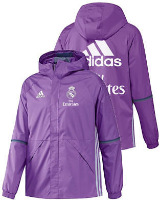 Fly Emirates Real Madrid Adidas Training Jacke Jacket all weather Lila 2016 17