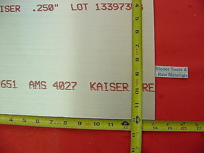 "1/4"" x 12""x 14"" ALUMINUM 6061 Sheet Plate .250"" Thick T6 New Flat Mill Bar Stock"