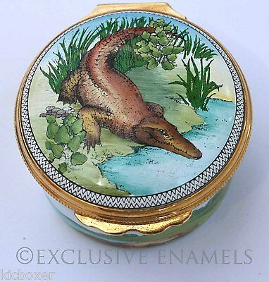 Halcyon Days Enamels The Crocodile Box Lewis Carrol Poem Enamel Box