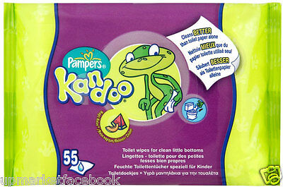 Pampers Kandoo 55 X 18 = 990 Flushable Toilet Wipes REFILL PACK
