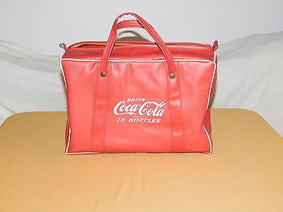 Vintage Drink Coca Cola In Bottles Plastic Travel Picnic Bag