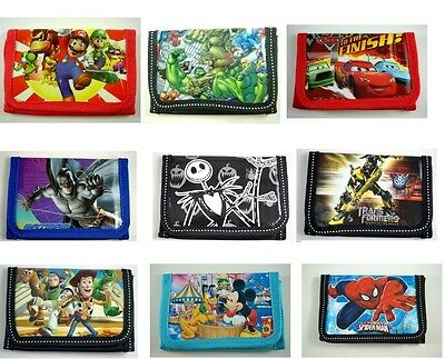 Kids Children Boys Cartoon Character Purse Wallet,Coin Purse,Mario Avengers Gift