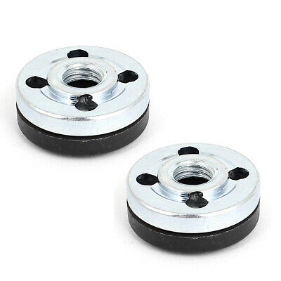 2 Pairs Round Clamp Inner Outer Nuts Flange Fixing for Makita 9523 Angle Grinder