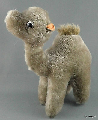 Schuco Germany Dromedary Camel Mohair Plush 16cm 6in c1970s Vintage no ID