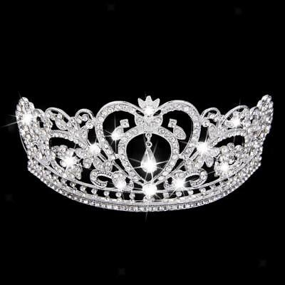 Wedding Bridal Shining Crystal Rhinestones Crown Tiara Headband Headpiece