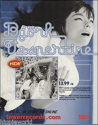Bjork 2001 Vespertine ad 8 x 11 advertisement trimmed and ready to frame