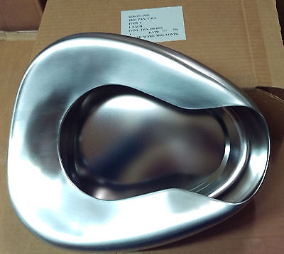 NEW U.S. POLAR STAINLESS STEEL BEDPAN (mfg 1966 NOS !) PERFECT.
