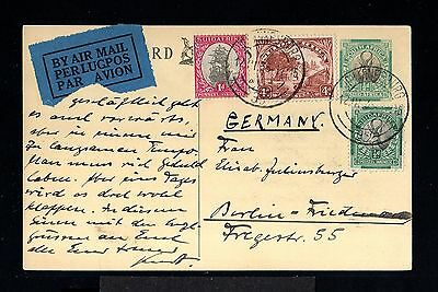 11430-SOUTH AFRIKA-AIRMAIL POSTCARD JOHANNESBURG to BERLIN (germany)1935.WWII.
