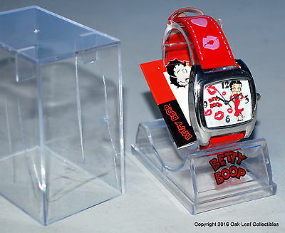 Betty Boop Ladie's Wrist Watch 2002 New never worn. Red Band Square shaped face.