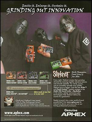 Slipknot Mick Thomson Paul Gray Jim Root Apex guitar effects pedals 8 x 11 ad