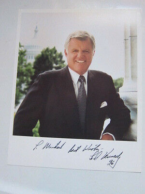 TED KENNEDY 8x10 photo AUTOGRAPHED