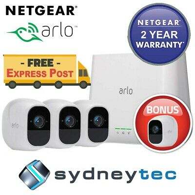New Netgear VMS3330-100AUS ARLO Smart Home Security - 3 HD Camera Security