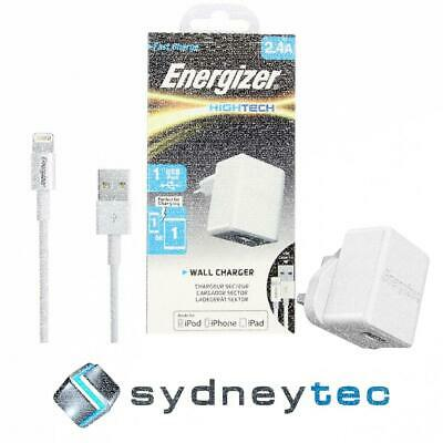 New Energizer HighTech Lightning 1 Port USB 2.4A Wall Charger- White