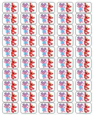 "50 Abby Cadabby and Elmo Envelope Seals / Labels / Stickers, 1"" by 1.5"""