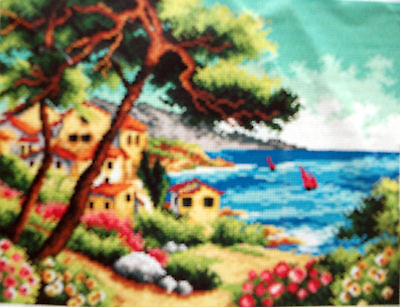 """Printed Needlepoint Canvas Brand New """"summer By The Sea"""""""