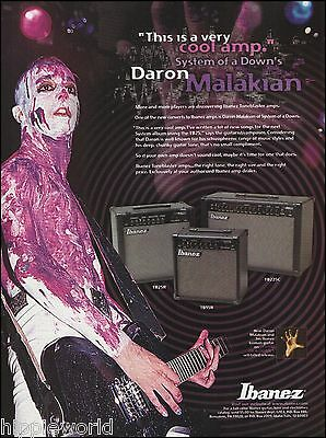 System of a Down Daron Malakian Ibanez Tone Blaster Guitar Amp 8 x 11 ad print