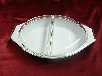 Pyrex 19 1 1/2 qt separated dish with clear glass lid bakeware kitchen casserole