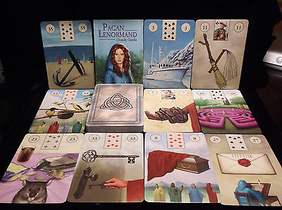 Sealed & Brand New! Pagan Lenormand Card & Book Oracle Wiccan Spirituality
