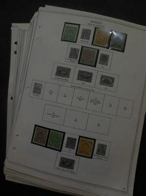 MEXICO : Very Clean collection on album pages for 1900-1968. Almost all VF MNH.