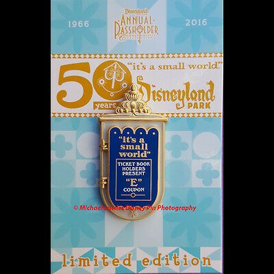 DISNEY DLR IT'S A SMALL WORLD 50th ANNIVERSARY MARY BLAIR MARQUEE PASSHOLER PIN