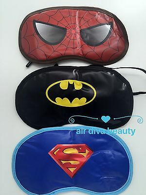 Girl Boy Kids Super hero superman batman spiderman rest Sleeping Face Eye Mask