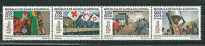 Equatorial GUINEA ECUATORIAL Edifil # 474/477 ** MNH Cruz Roja / Red Cross