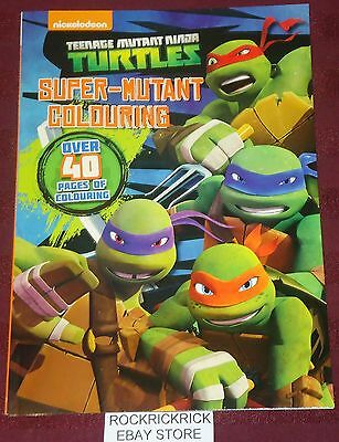 Teenage Mutant Ninja Turtles - Colouring Book -Over 40 Pages- Brand New