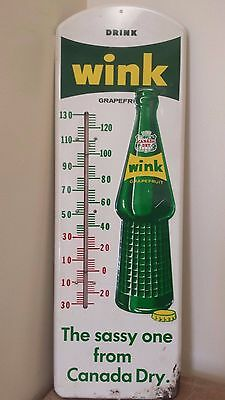 Canada Dry Wink Embossed Thermometer 132-W