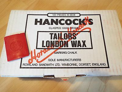 Box 100 Pieces Hancocks Tailors London Fabric Material Marking Wax