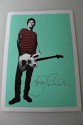 Johnny Marr The Smiths Hand Signed Autographed Lithograph Poster - Rare