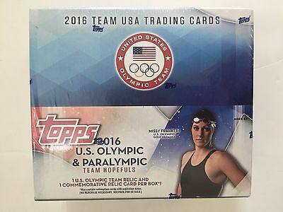 2016 Topps U.s. Olympic & Paralympic Team Hopefuls Box   Retail Version