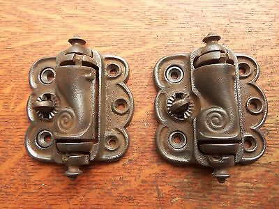 Two Antique Cast Iron Quick Release Screen Door Hinges c1885 by Sargent • CAD $94.38