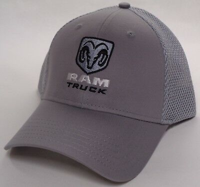 994bbd902907e Hat Cap Licensed Dodge RAM Truck Trucks Mesh Grey HR 247